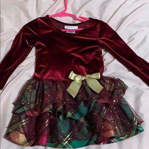Burgundy toddler fall holiday dress